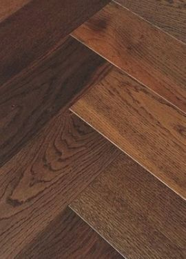 ELKA 14MM ENGINEERED HERRINGBONE DARK SMOKED OAK